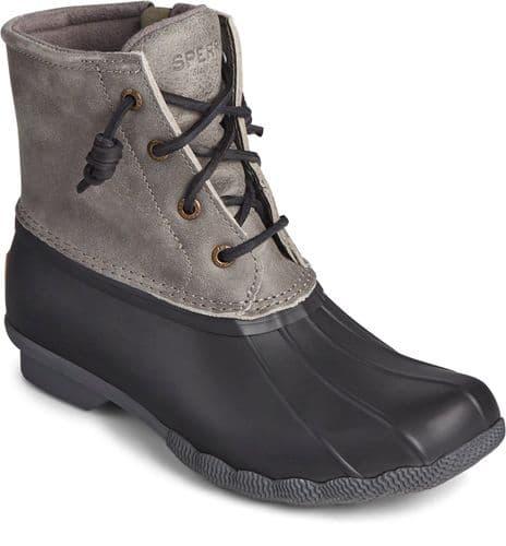 Sperry Saltwater Core Ladies Mid Boot Black / Grey